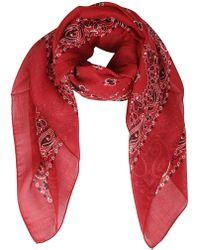 Saint Laurent Printed Bandana Scarf - Red