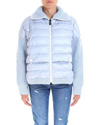 Moncler Grenoble - Knitted Padded Jacket - Lyst