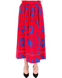 Marni - Printed Cotton Midi Skirt - Lyst