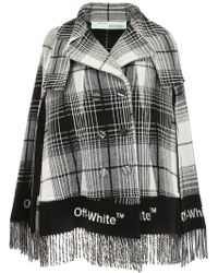 Off-White c/o Virgil Abloh - Check Wool Blend Cape - Lyst