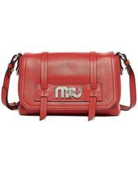 d8b75f25cfa1 Miu Miu - Grace Lux Leather Shoulder Bag - Lyst