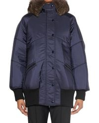Miu Miu - Hooded Down Jacket - Lyst