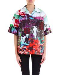Prada - Printed Short Sleeve Shirt - Lyst