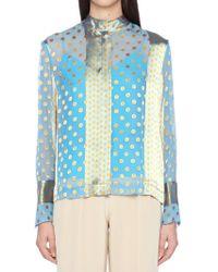 Diane von Furstenberg - Dots Printed Shirt - Lyst