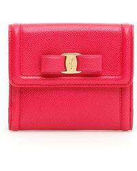 Ferragamo Vara Bow French Wallet