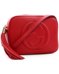 d22adb7c5 Gucci Soho Studded Leather Disco Bag in Red - Lyst