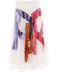 P.A.R.O.S.H. - Gambit Sequinned Skirt - Lyst