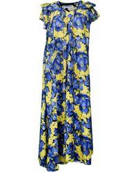 Balenciaga - Contrasting Floral Print Dress - Lyst