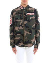 Valentino - Camouflage Print Shirt - Lyst