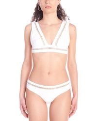 4277a3aefb15c Zimmermann Marisol Ladder Cut Out Bikini- Final Sale in White - Lyst