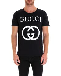 8b4af95c Gucci Logo Graphic T-shirt in White for Men - Save ...