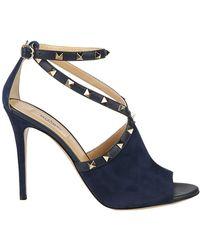 Valentino - Garavani Rockstud Suede Sandals - Lyst
