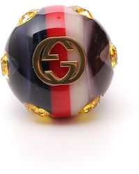 Gucci - Vintage Style Gg Logo Ring - Lyst