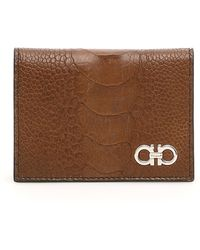 d9d7d8eb410 Lyst - Gucci Ostrich Billfold Wallet in Brown for Men
