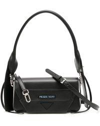 ec1d6371d86d Prada Matelassé Shoulder Bag in Black - Lyst