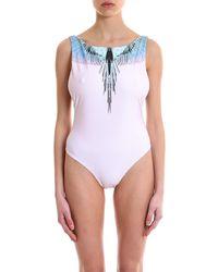 Marcelo Burlon - Wings Printed Swimsuit - Lyst