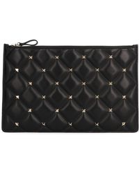 Valentino - Studded Clutch - Lyst