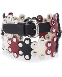 RED Valentino - Studded Flower Leather Wrap Bracelet - Lyst