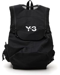 Y-3 - Foldover Top Logo Backpack - Lyst