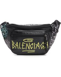 Balenciaga - Logo Graffiti Belt Bag - Lyst