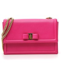 7d68fabeb7 Ferragamo Sandrine Shoulder Bag in Pink - Lyst