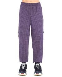 Balenciaga - Adjustable Length Check Track Pants - Lyst