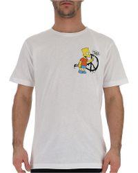 Off-White c/o Virgil Abloh - Bart Simpson Print T-shirt - Lyst