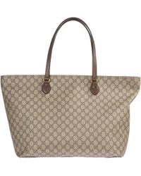 5cd23396f58 Lyst - Gucci Ophidia GG Medium Tote Bag in Brown - Save 12%