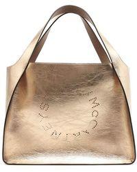 8d1dfdea7e8e Lyst - Stella Mccartney Mini Falabella Metallic Chain Tote Bag in ...