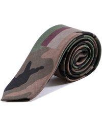 Valentino - Camouflage Print Tie - Lyst