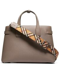 cba1d70d81 Burberry Medium Banner Tote in Gray - Lyst