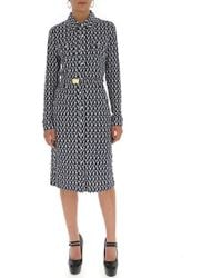 Tory Burch - Lattice Print Shirt Dress - Lyst