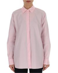 5aef7877f3 Theory Alrik Double Georgette Shirt in White - Lyst