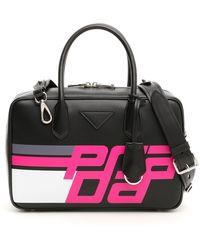 df5269189183 Fendi Logo Bowling Bag in Brown - Lyst
