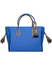 Longchamp - Suede Trim Tote Bag - Lyst