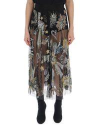 Amen - Sheer Embellished Skirt - Lyst