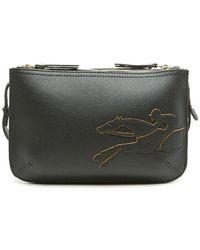 Longchamp  2.0  Two-tone Crossbody Bag in Black - Lyst 46a0e1eca9cfb