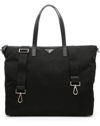 Prada Saffiano Log Tote Bag