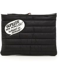 Moncler - Quilted Clutch Bag - Lyst