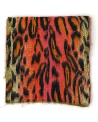 Stella McCartney - Leopard Print Scarf - Lyst