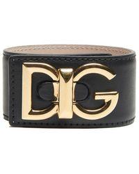 Dolce & Gabbana - Logo Leather Bracelet - Lyst