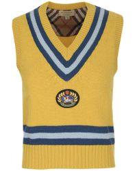 Burberry - Maringa Crest V Neck Knit Gilet - Lyst