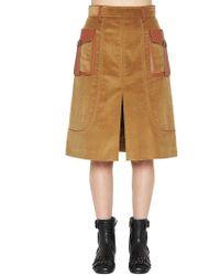 Prada - Textured Skirt - Lyst