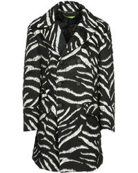Versace Jeans - Double-breasted Printed Overcoat - Lyst