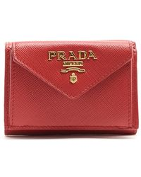 296929b744dc Prada - Logo Mini Wallet - Lyst