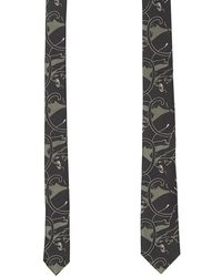 Valentino - Camouflage Panther Print Tie - Lyst