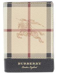 Burberry Haymarket Wallet - Black