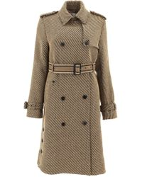 Dior - Collared Logo Belted Coat - Lyst