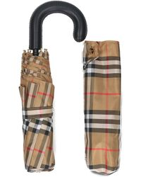 Burberry - Trafalga Check Foldable Umbrella - Lyst