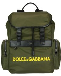 7d5c7c420a Lyst - Dolce   Gabbana Brown And Grey Sword Print Rucksack in Brown ...